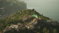 WS HA PAN View of coastal cliffs with scattered houses / Ravello,Campania