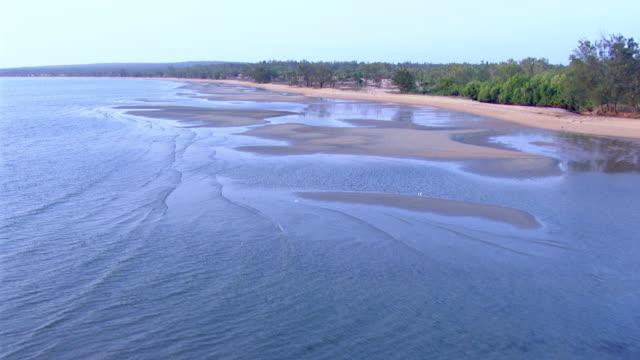 WS AERIAL View of coastline / Darwin, Northern Territory, Australia