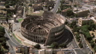 WS AERIAL View of Coliseum / Rome, Italy
