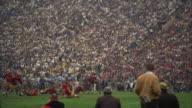 WS PAN View of college football game in coliseum