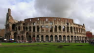 WS View of Colosseo with cloudy sky / Rome, Latium, Italy