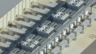 WS AERIAL ZO View of Cooling units on rooftop of data center in Mayes  county / Oklahoma, United States