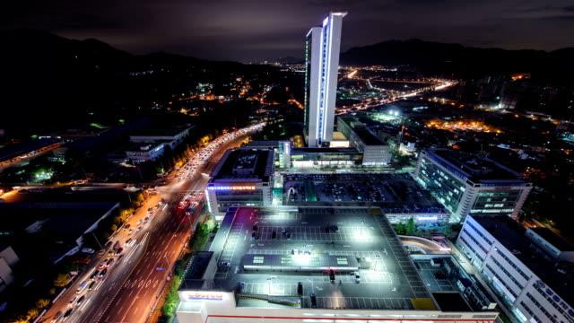 View of Costco Wholesale Corporation at Yangjaedaero Street at night