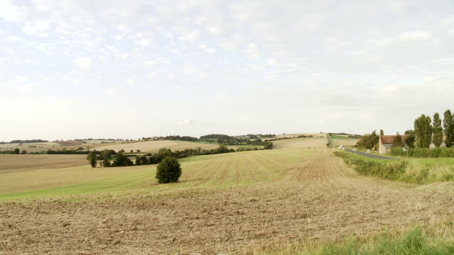 WS View of Countryside in rural village / Beaune, Burgundy, France