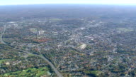 WS AERIAL View of Danbury city / Connecticut, United States