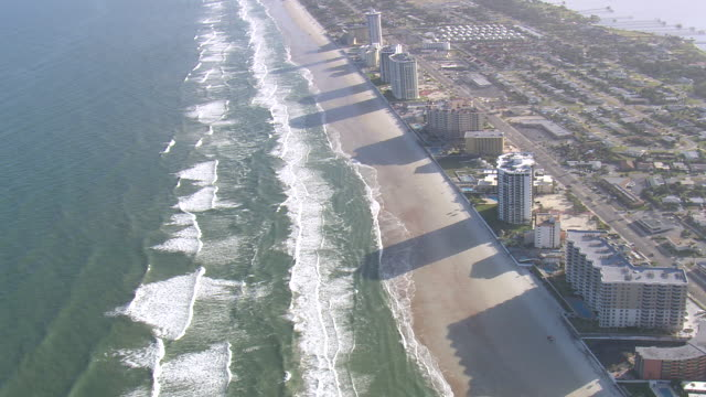 AERIAL WS View of Daytona beach / Florida, United States