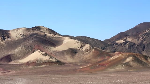 WS View of desert mountains / South Of Peru, Nazca, Peru