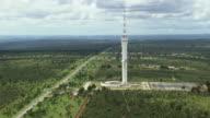 WS AERIAL View of digital television tower / Brasilia, Brazil