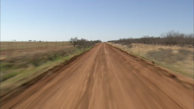 WS AERIAL View of dirt road / Texas, United States