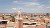 WS T/L View of  Djemaa el-Fna square / Marrakech, Morocco