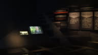 A view of documentary film of Unit 731 in the Exhibition Hall Of Crime Evidence Of Japanese Germ Factory on May 19 2017 in Harbin China This Japanese...