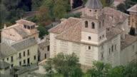 WS POV AERIAL View of downtown of Granada / Granada, Andalusia, Spain