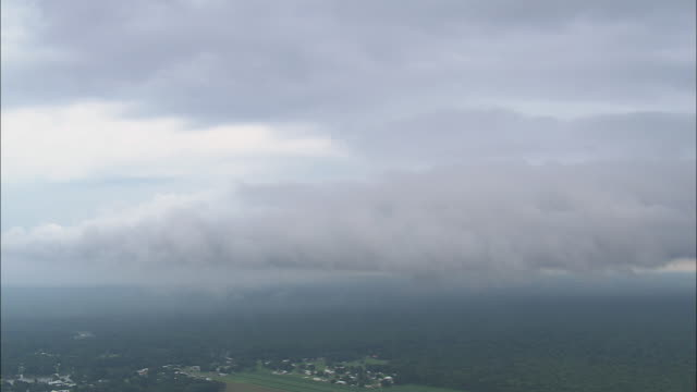 WS AERIAL View of Dramatic storm clouds / Texas, United States