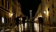 View of Dubrovnik street in rain