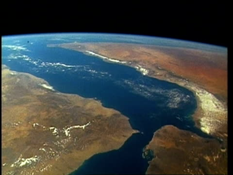 View of Earth from space, over Middle East and Red Sea, STS-62
