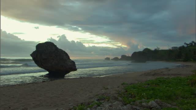 WS View of east coast of Barbados in morning / Bathsheba, St Joseph, Barbados