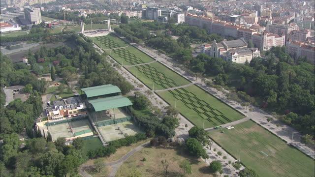 WS POV View of Eduardo VII Park / Lisbon, Portugal