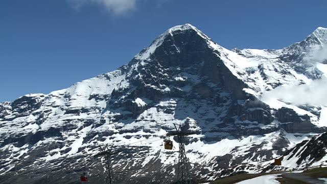 WS View of Eiger and rope way / Mannlichen, Bernese Oberland, Switzerland