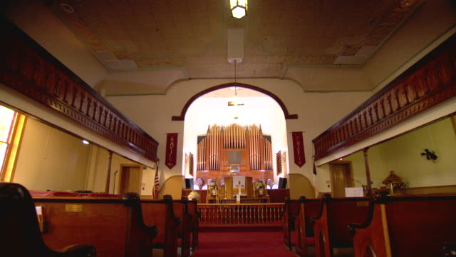 WS POV View of empty mount zion church / Washington, District of Columbia, United States