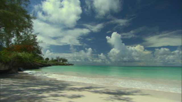 WS PAN View of enterprise beach / Oistins, Christchurch, Barbados