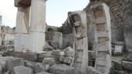 WS POV View of Ephesus, ancient ruins / Selcuk, Efes, Turkey