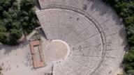 WS AERIAL ZI ZO DS View of Epidavros Epidaurus Thatre / Epidaurus, Peleponnesus, Peloponnese, Greece
