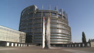 WS View of european parliament / Strasbourg, Alsace, France