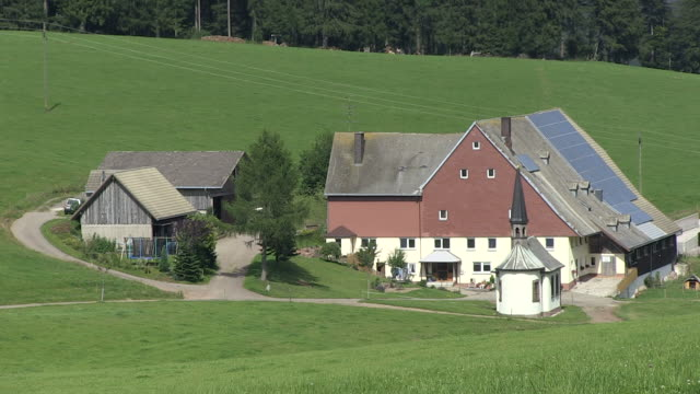 MS View of farmhouse / St. Maergen, Baden-Wuerttemberg, Germany