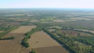 WS AERIAL TD View of farmland in northwest Alabama / Alabama, United States