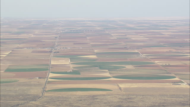 WS AERIAL View of farmland / Texas, United States