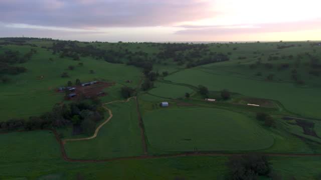 WS AERIAL View of Fields and mountains / Coolgardie and Kalgoorlie, Western Australia, Australia
