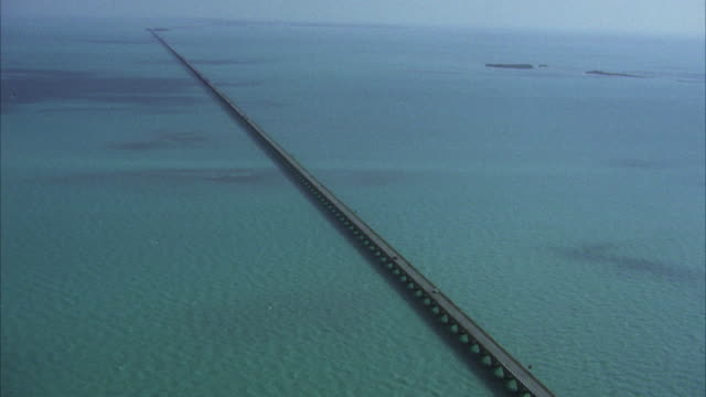 AERIAL WS View of Florida causeway