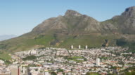 WS View of foothill of Table Mountain / Cape Town, Western Cape, South Africa