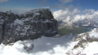 WS AERIAL View of Funffingerstock, clouds with wenden glacier and titlis south face / Funffingerstock, Bern, Switzerland