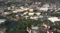 AERIAL WS View of Games at water park  / Florida, United States