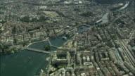 AERIAL View of Geneva, Switzerland