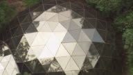 WS AERIAL ZO View of geodesic dome / Bahia, Brazil