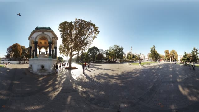 360 VR view of German Fountain in Sultanahmet Square in Istanbul Turkey October 20 2017 The German Fountain also known as Alman Cesmesi or the...