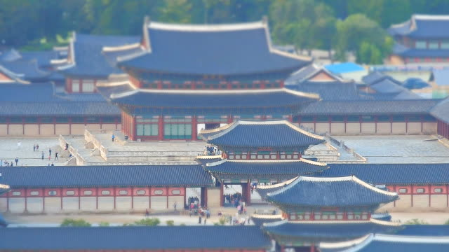 WS T/L View of Geunjeongjeon(Korea's National Treasure No. 223) in Gyeongbokgung Royal Palace(Unesco Heritage)) / Seoul, South Korea