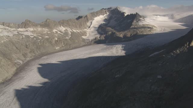 WS POV  View of Glacier Rhonegletscher / Belvédère, Vallis, Switzerland