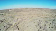 WS AERIAL View of gobi desert/Alashan, Inner Mongolia, China.