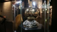 A view of Golden Ball to Pavel Nedved at Juventus Museum in Turin on March 27 2017 The Juventus Museum called the JMuseum was unveiled on 16 May 2012...