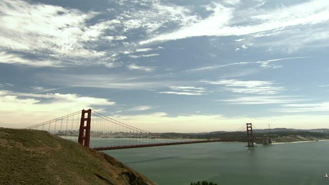 WS View of Golden Gate Bridge / San Francisco, California, USA