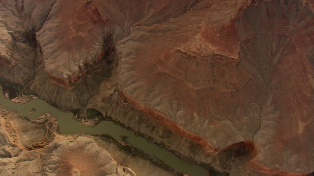 WS AERIAL View of grand canyon with lake / Arizona, United States