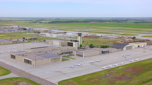 WS AERIAL TS View of Grand Forks Airport / Grand Forks, North Dakota, United States