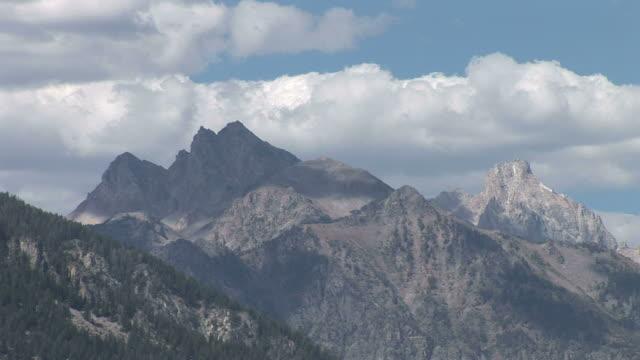 View of Grand Teton mountain in Wyoming United States