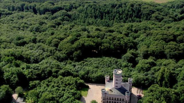 WS AERIAL ZI ZO View of granitz hunting chateau / Ruegen, Mecklenburg-Vorpommern, Germany