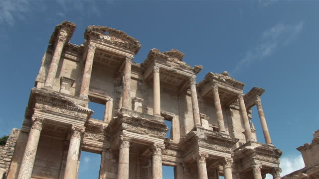 MS View of greek theatre / Ephesus, Selcuk, Celsus library, Ägais province, Turkey