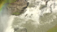 WS ZO AERIAL View of Gullfoss / Iceland