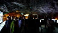 View of Gwangmyeong Cave (Famous travel destination in Korea) with tourists